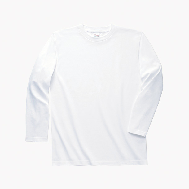 画像1: プリントスター (Printstar) 00101-LVC ヘビーウェイト長袖リブ無しカラーTシャツ ホワイト 110-160